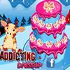 Sladký tortu dekorácie vianočné hra