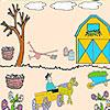 Farmer in the garden coloring hra