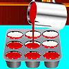 Červené zamatové Cupcakes hra